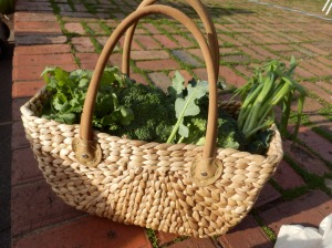 Basket of greens.